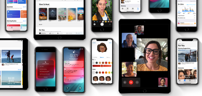 iOS 12 screenshots: iPhone, iPad and iPod touch showing off key new features