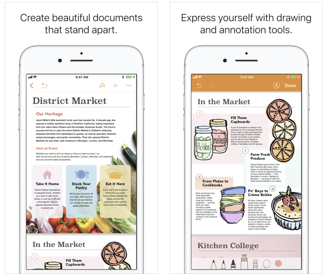 iWork iOS apps updated with on-page audio recording, better Apple Pencil support, and more