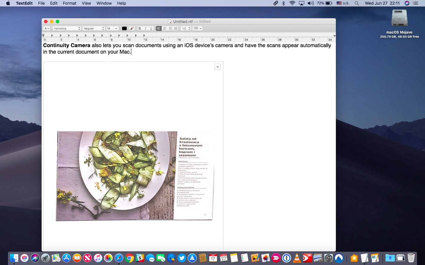 iOS's document scanner uses computer vision to produce high-quality scans for the Continuity Camera feature on your Mac