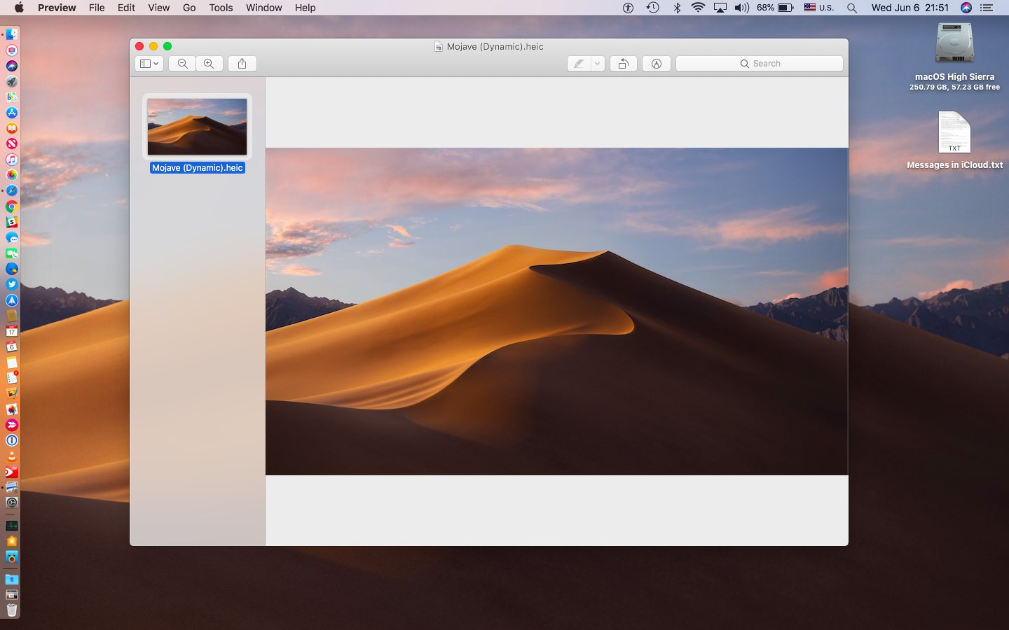 macOS's Mojave dynamic wallpaper HEIC file in Preview