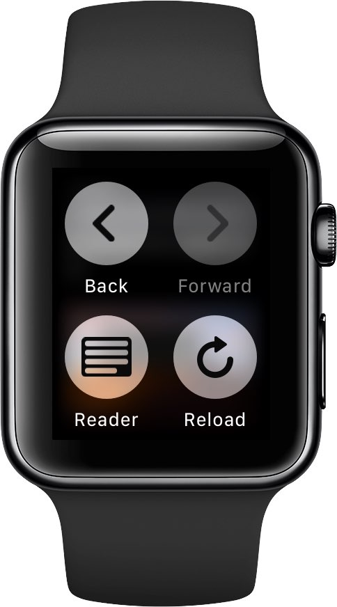 When viewing web content on your Apple Watch, use Force Touch for hidden navigation options