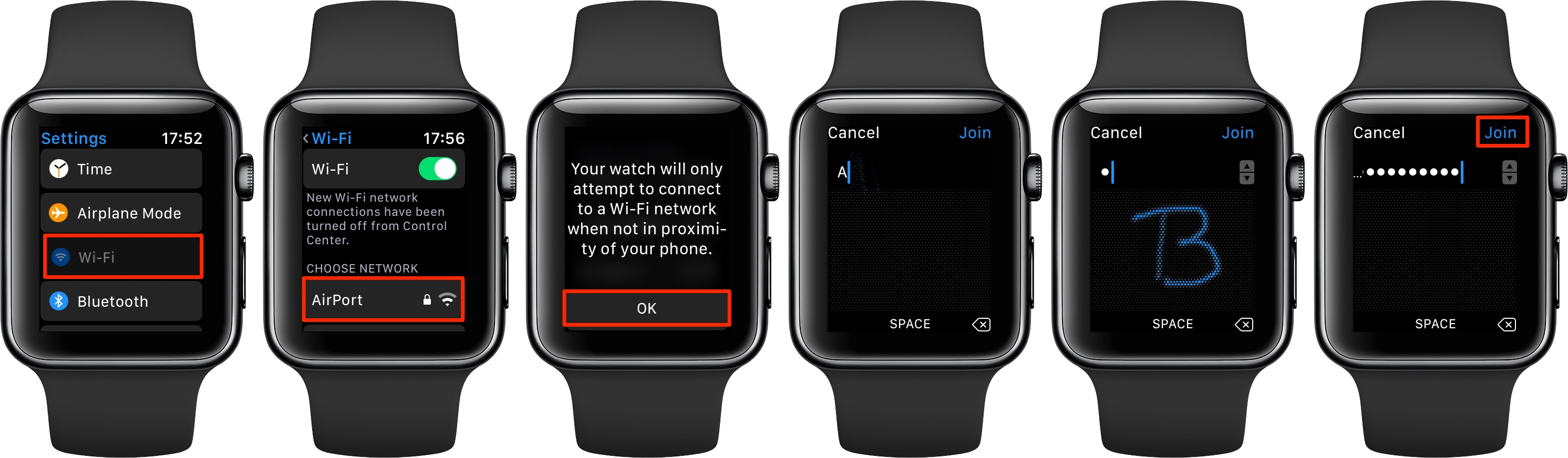 watchOS 5 lets you manually join a Wi-Fi network in Settings