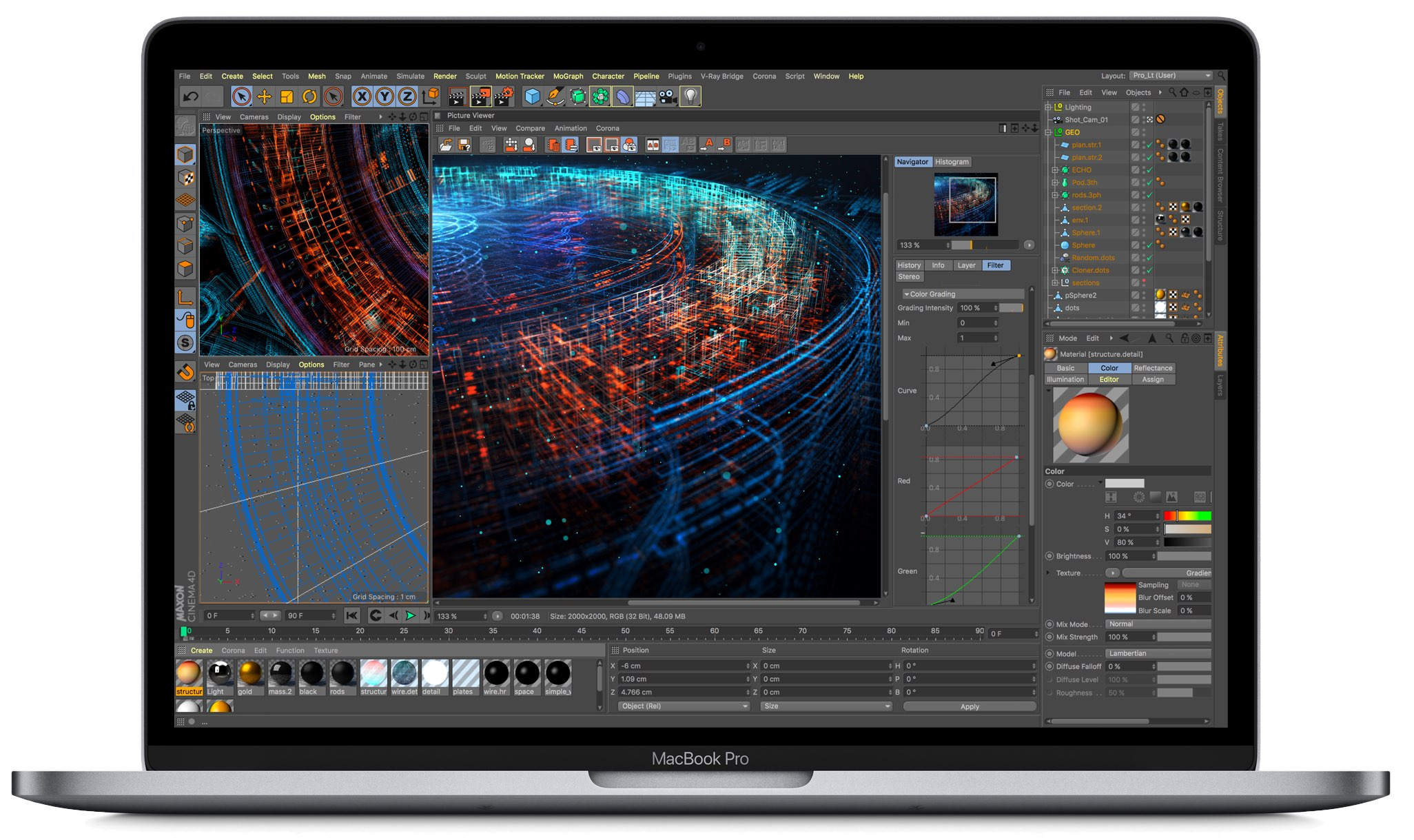 A press image showing the refreshed MacBook Pro models for 2018 featuring a True Tone-enabled Retina display