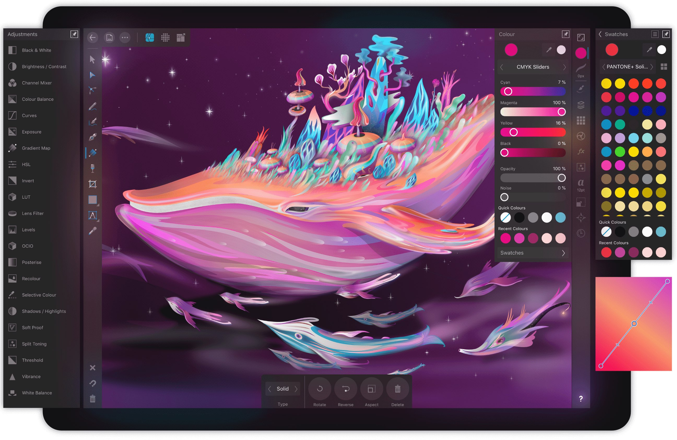 pro illustrator app affinity designer comes to ipad with apple pencil support for just. Black Bedroom Furniture Sets. Home Design Ideas