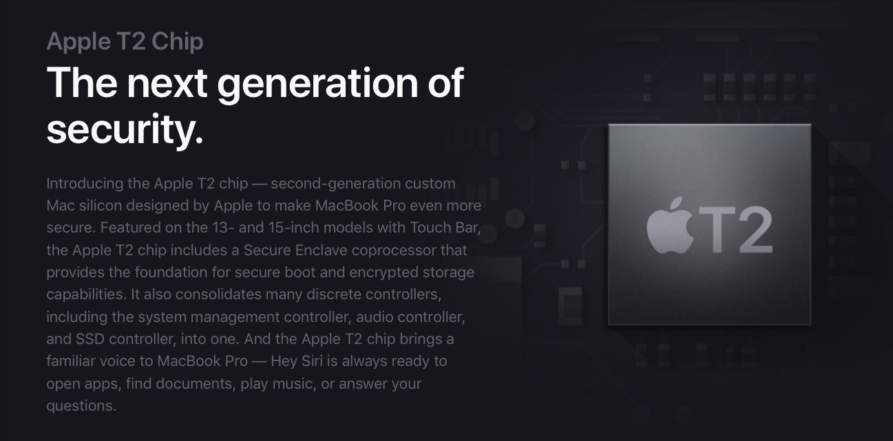 Apple T2 security chip overview