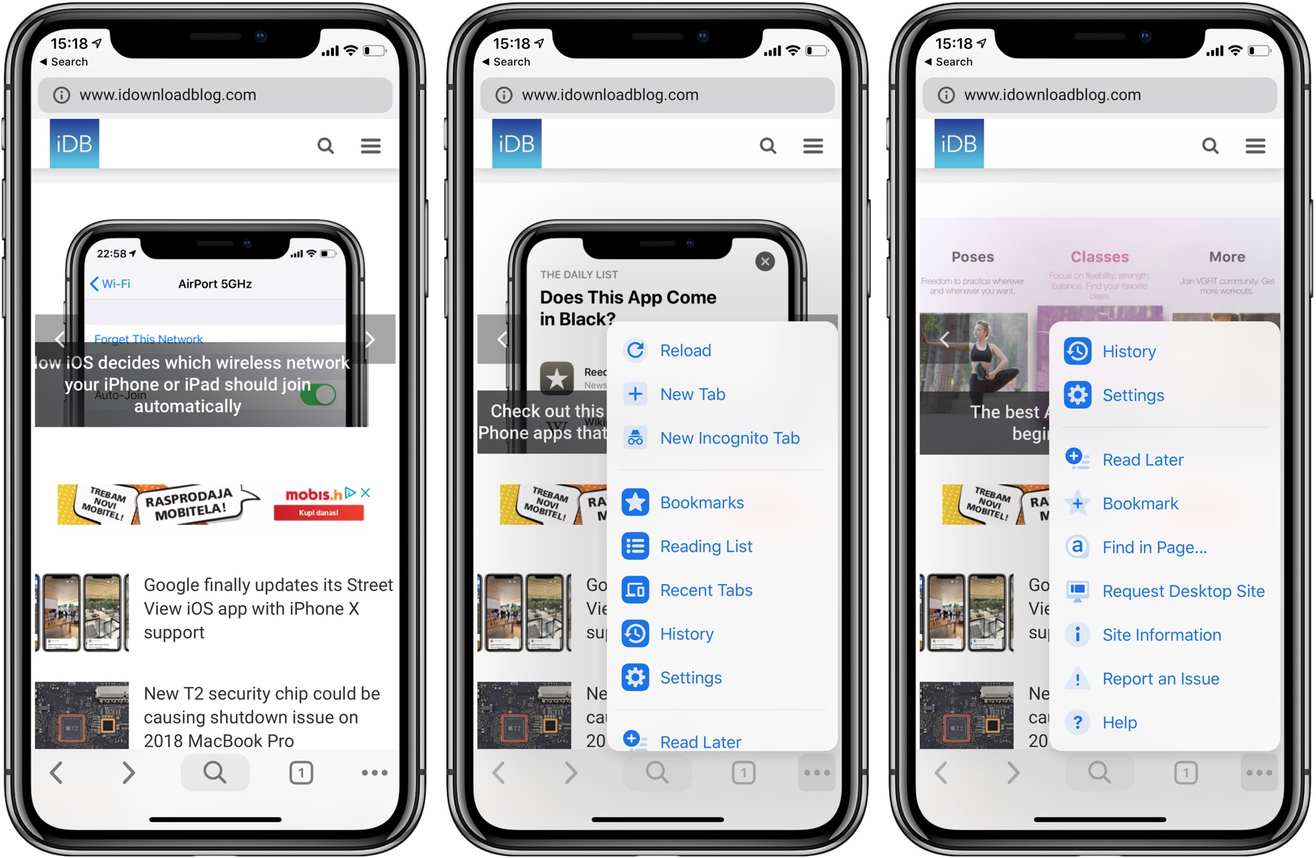 Aside from a rounder appearance, Material Design in Chrome for iOS moves your navigation controls to the bottom of the interface
