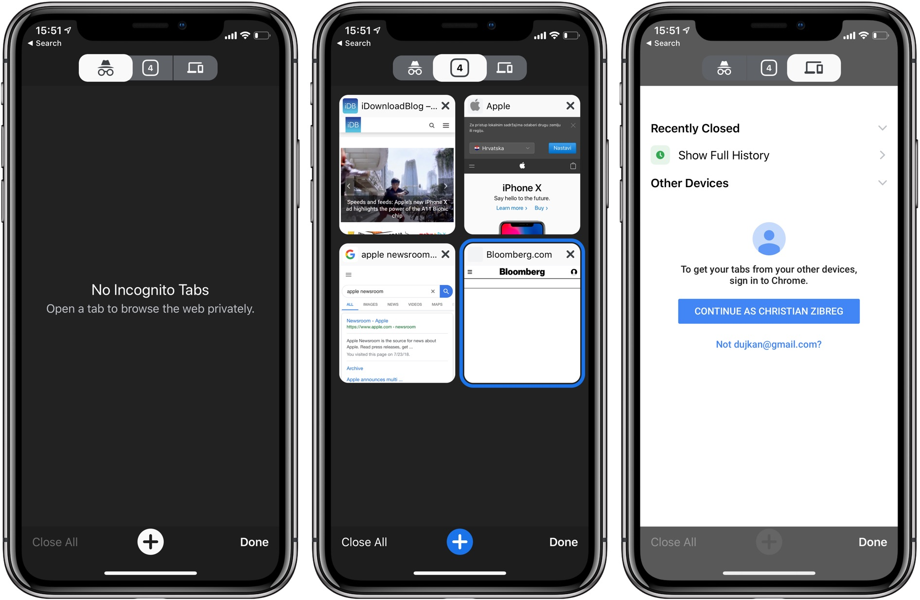 The New Tap page in Chrome for iOS has been redesigned as well to be more useful than before