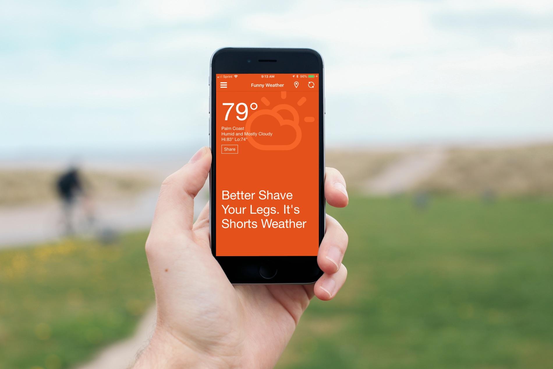Aplicaciones divertidas del clima para iOS