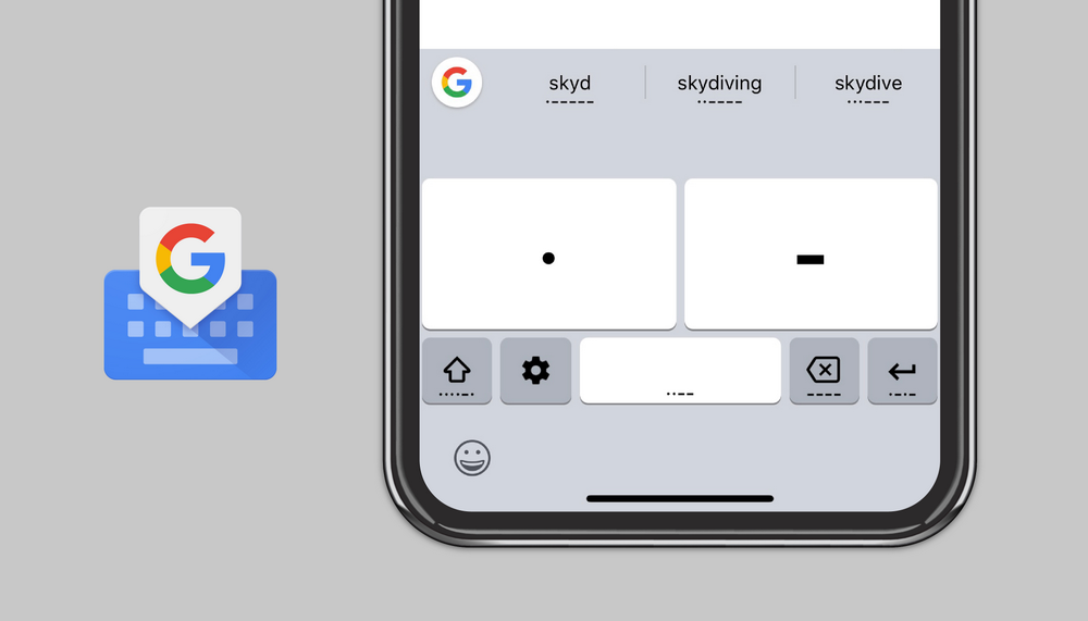 Gboard, Google's excellent iOS keyboard, picks up Morse code typing