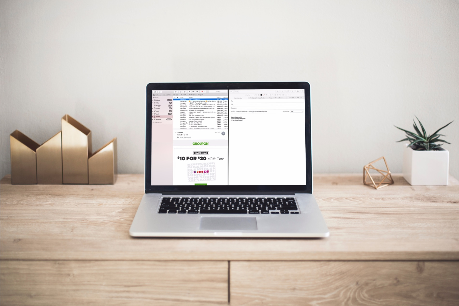 How to work with Mail in Split View on Mac