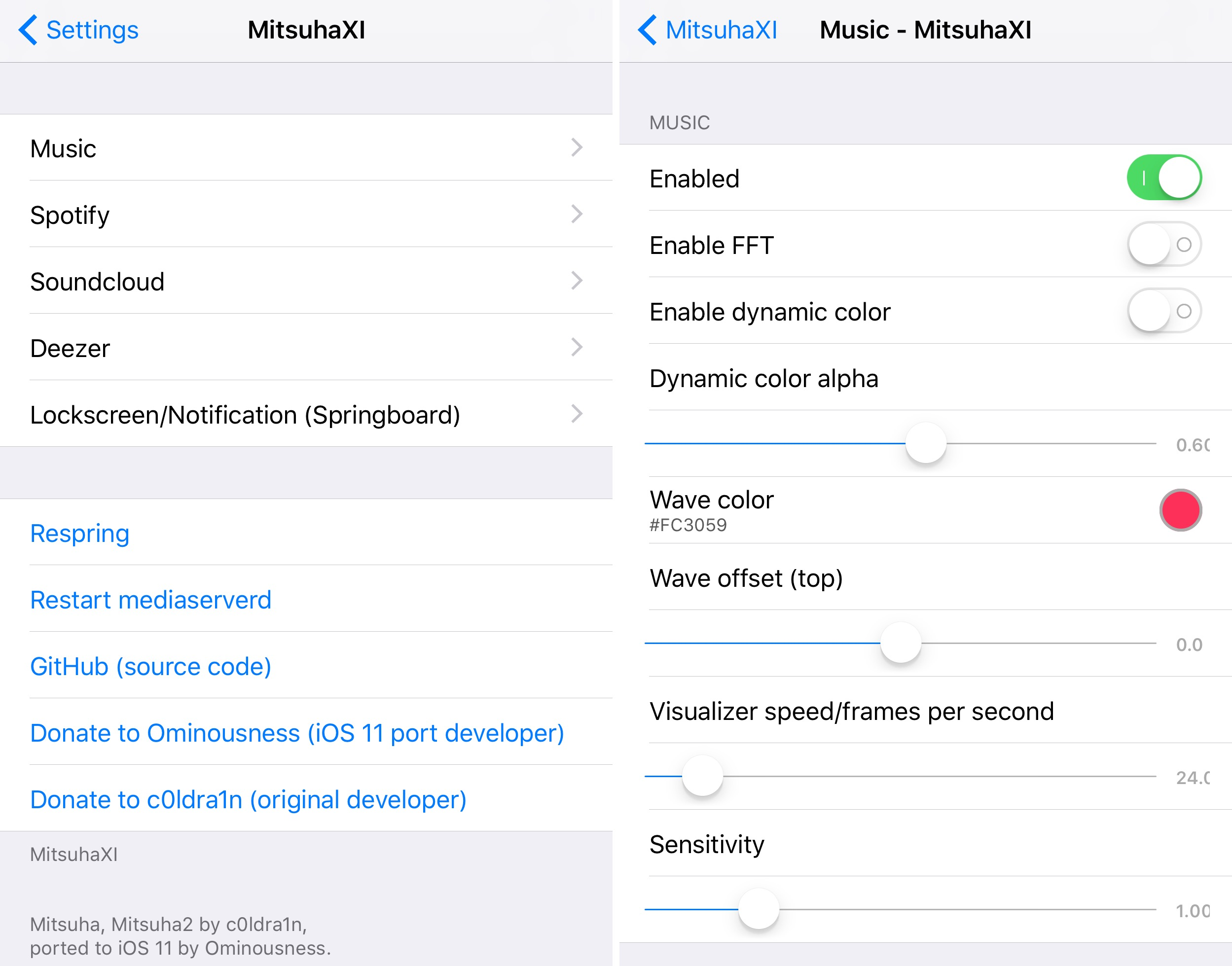 MitsuhaXI brings an audio visualizer to jailbroken iOS 11 devices