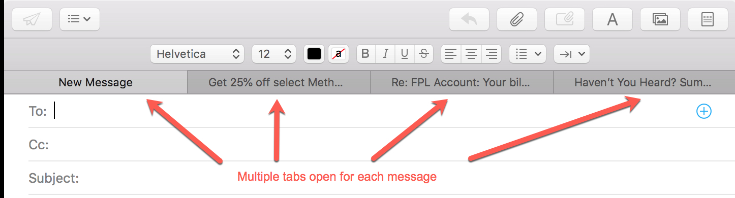 Multiple Tabs per Email in mail split view