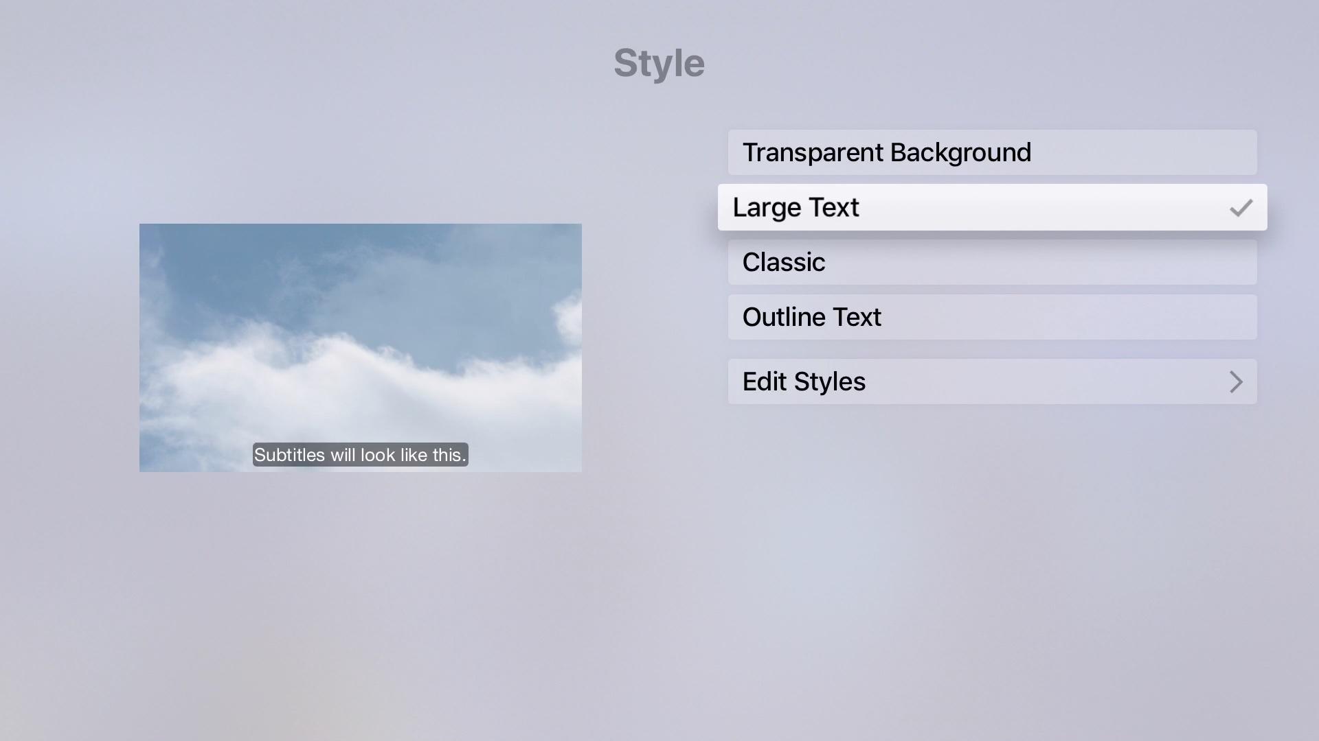Subtitles Captions Apple TV