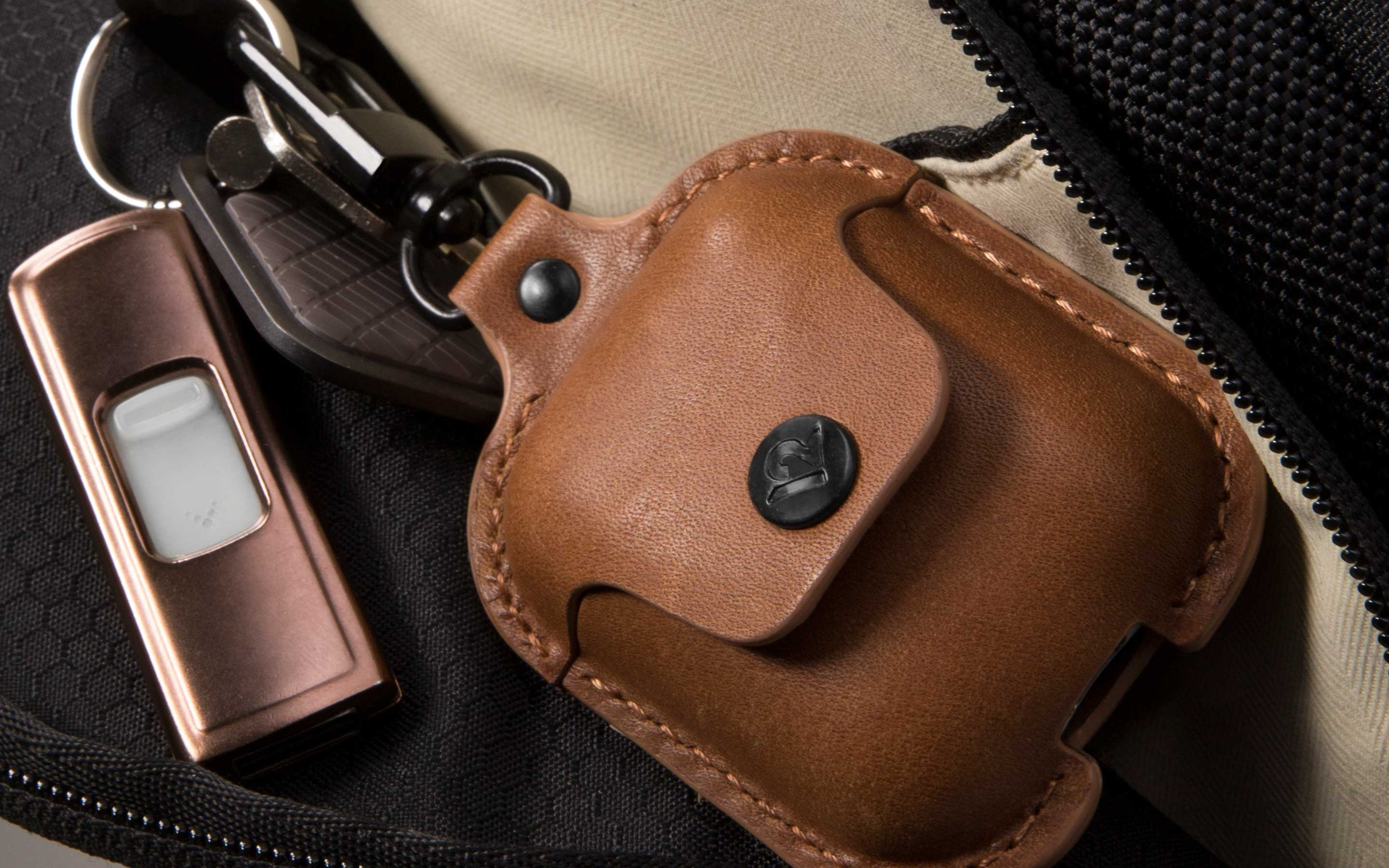 Twelve South's AirSnap leather case for AirPods