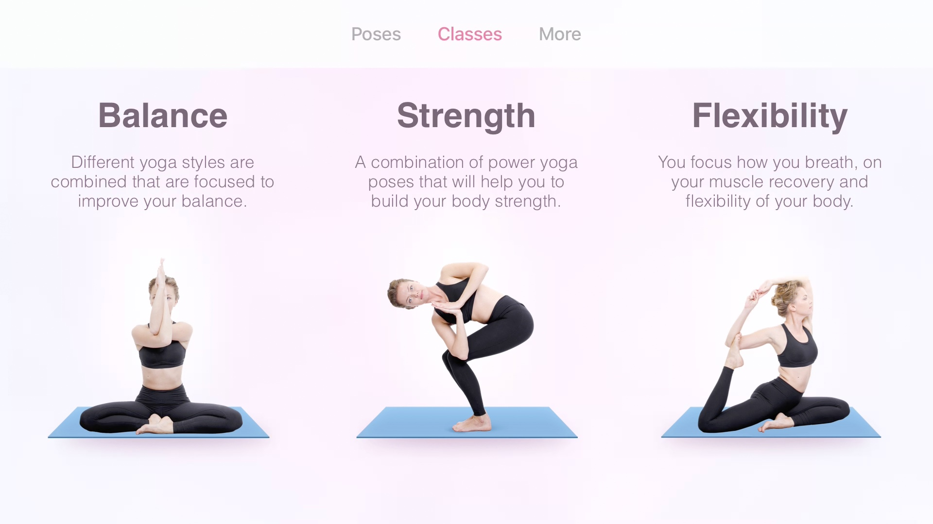 Yoga Poses and Classes for Apple TV