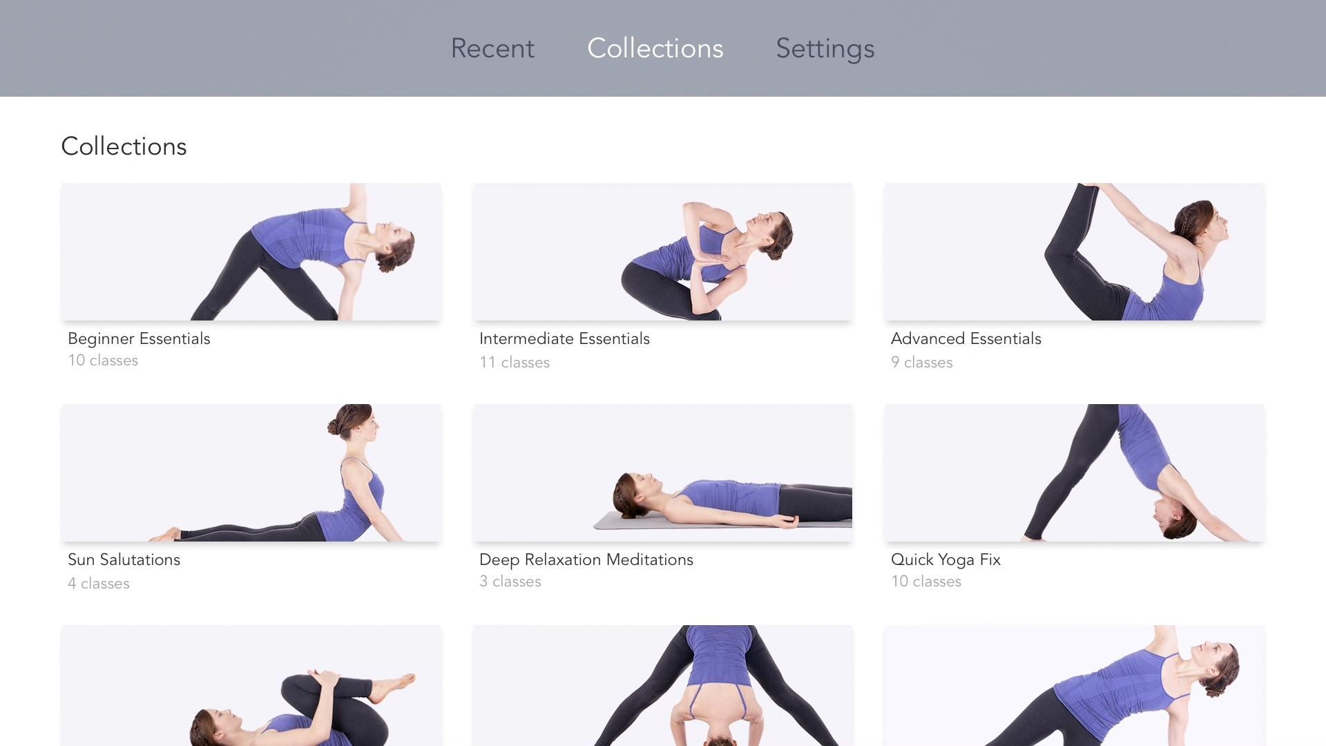 Estudio de yoga para Apple TV