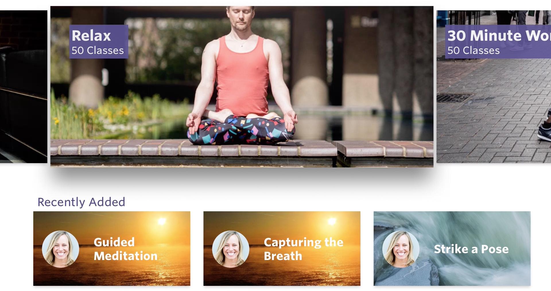Aplicación Yogaia para Apple TV