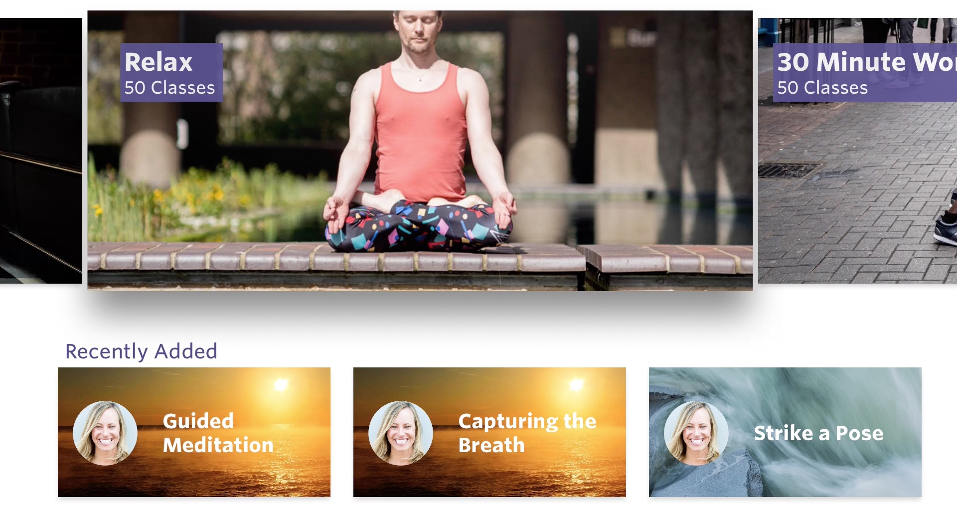 Yogaia App for Apple TV