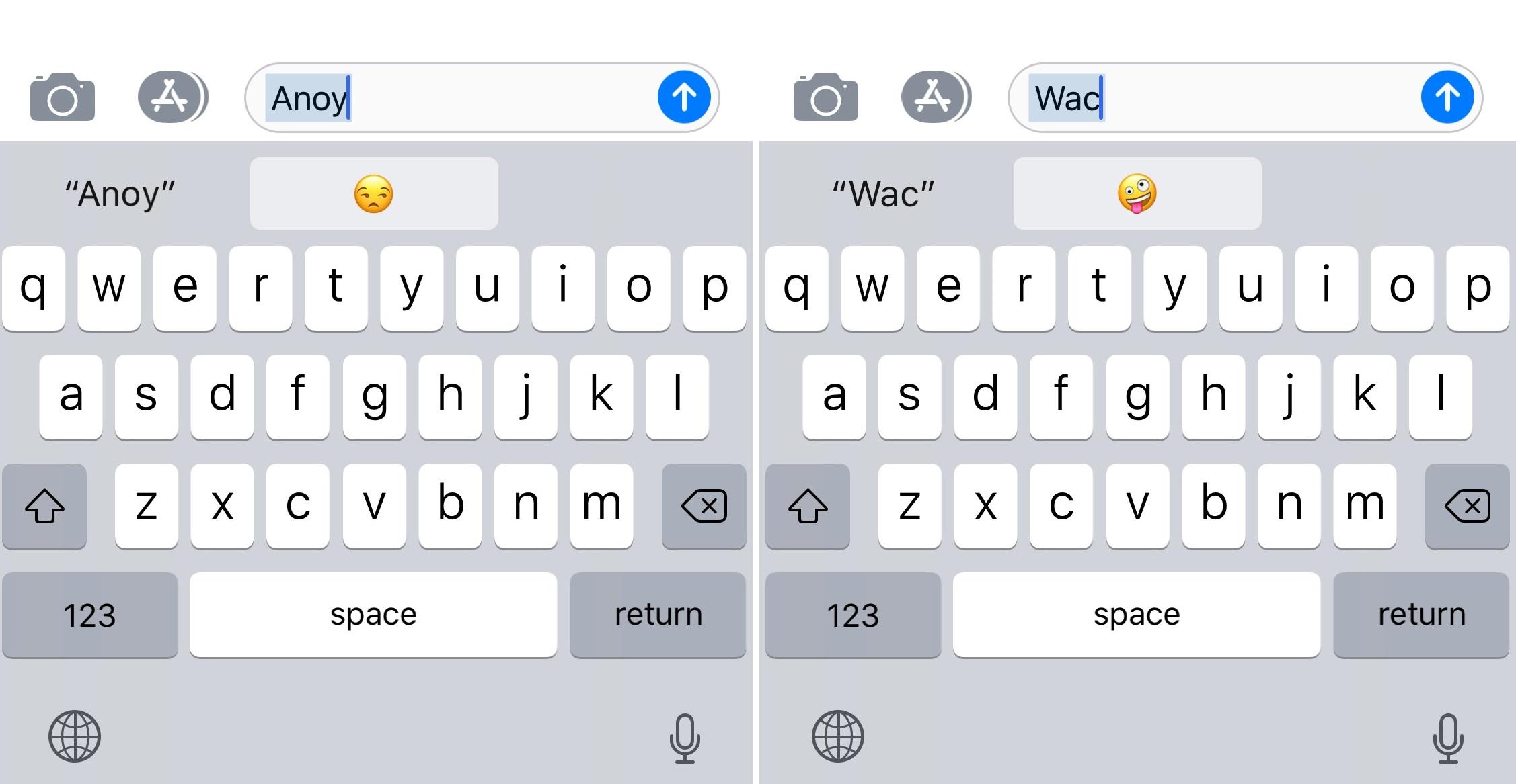 Emoji shortcuts