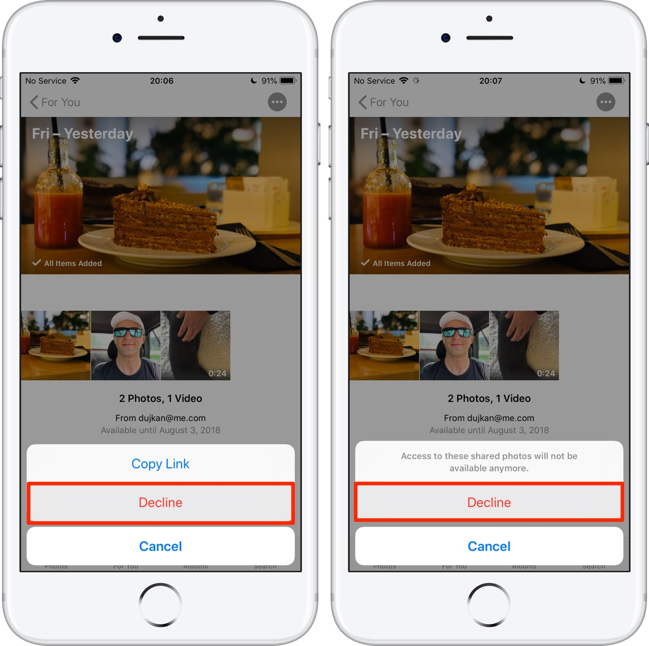 How to share iPhone photos using a link