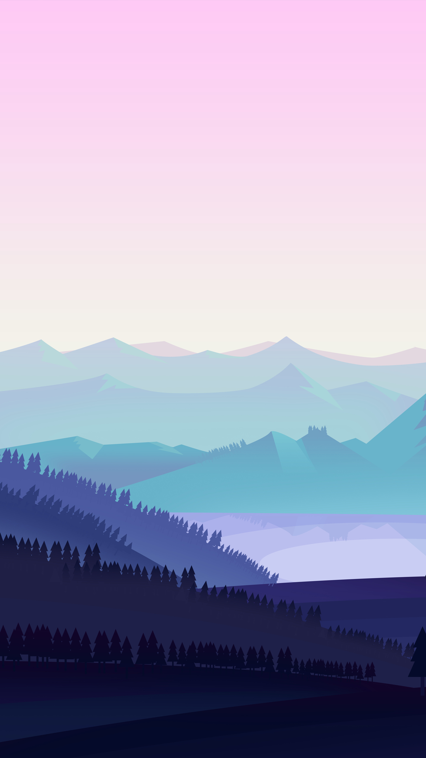 pink and blue anime mountains wallpaper