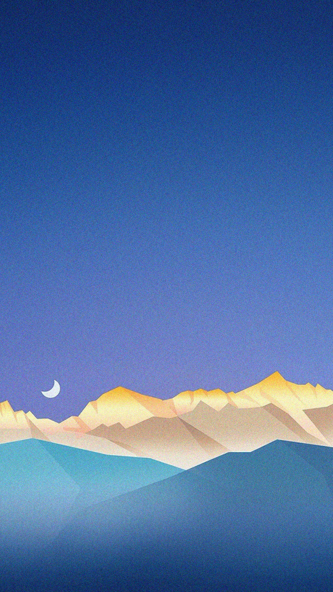 Sky over mountains anime wallpaper