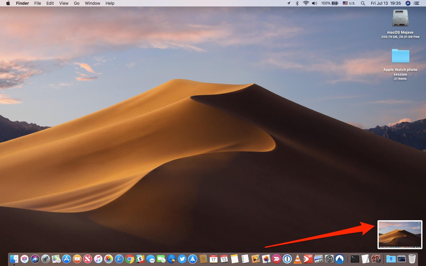 Take Mac screenshots - Taking a Mac screenshots in macOS Mojave
