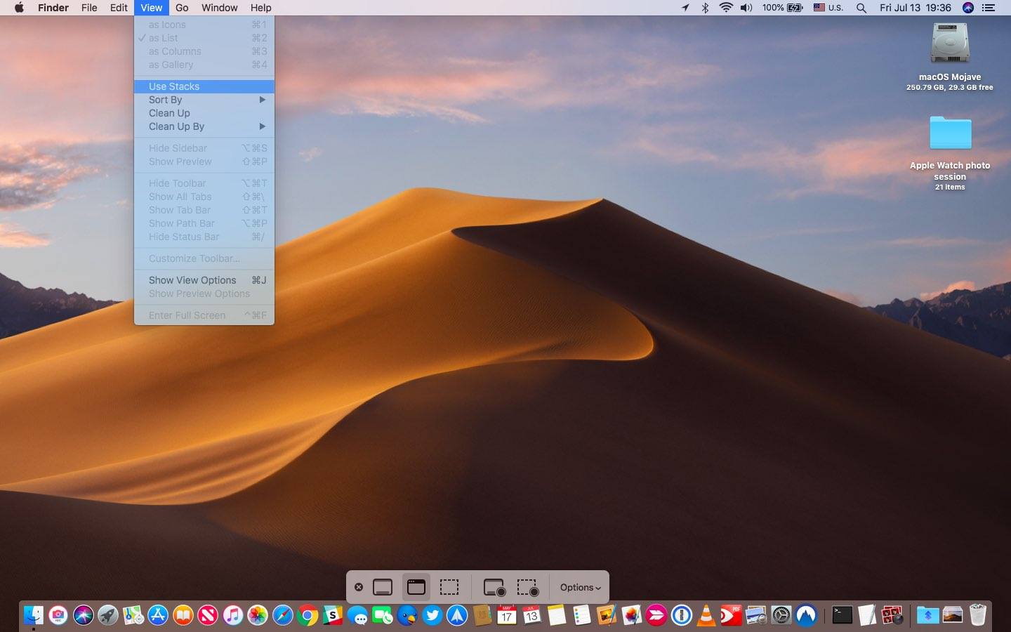 Take Mac screenshots - Use the selection Space bar method to screenshot menus as well