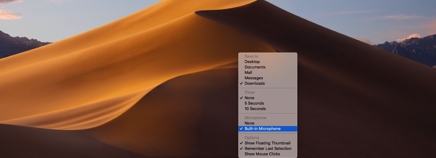 Take Mac screenshots - Video recordings can be captured with or without sound