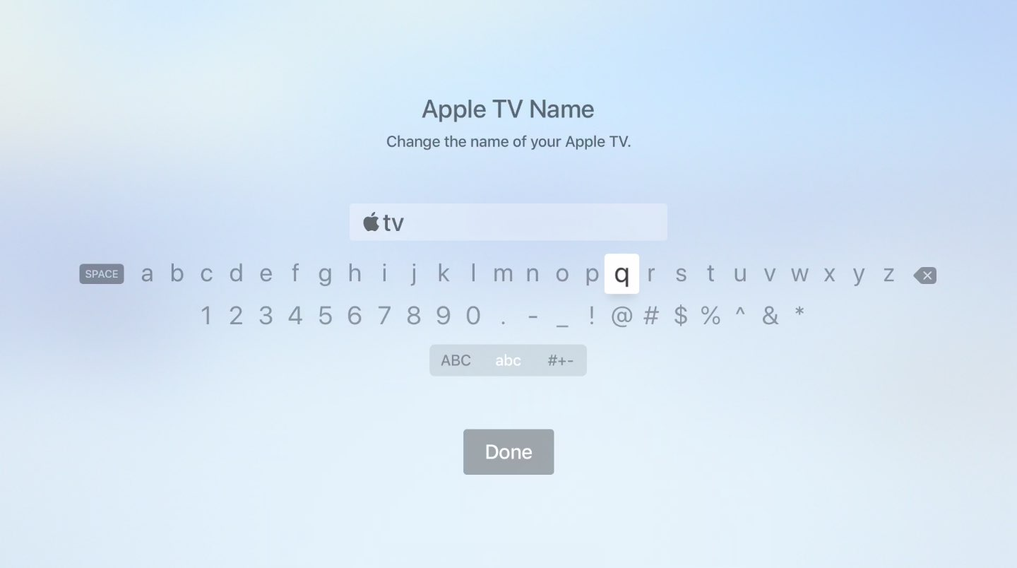 You may want to type the Apple symbol when renaming your Apple TV, for instance