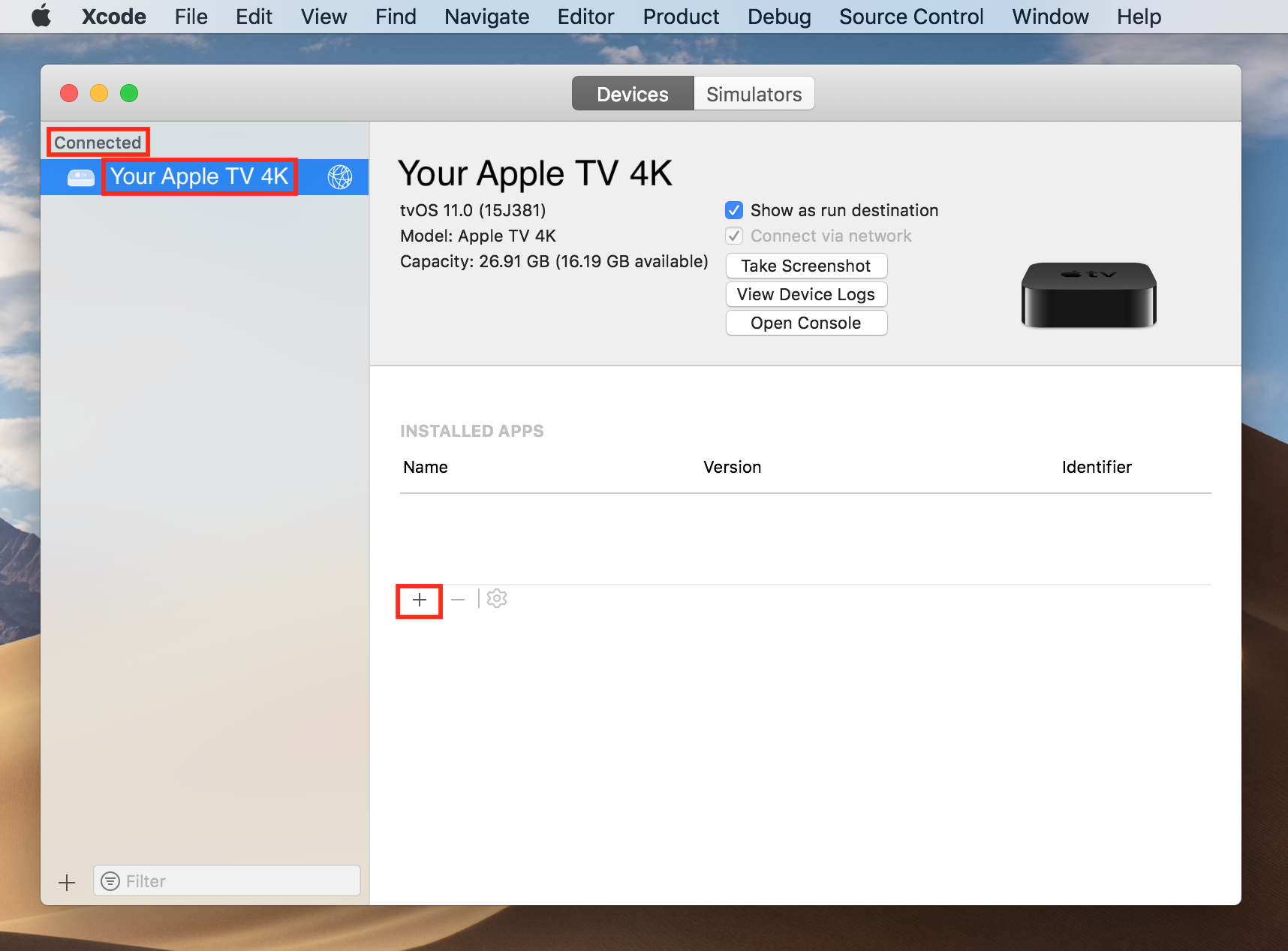 How to sign and sideload apps to the Apple TV 4K