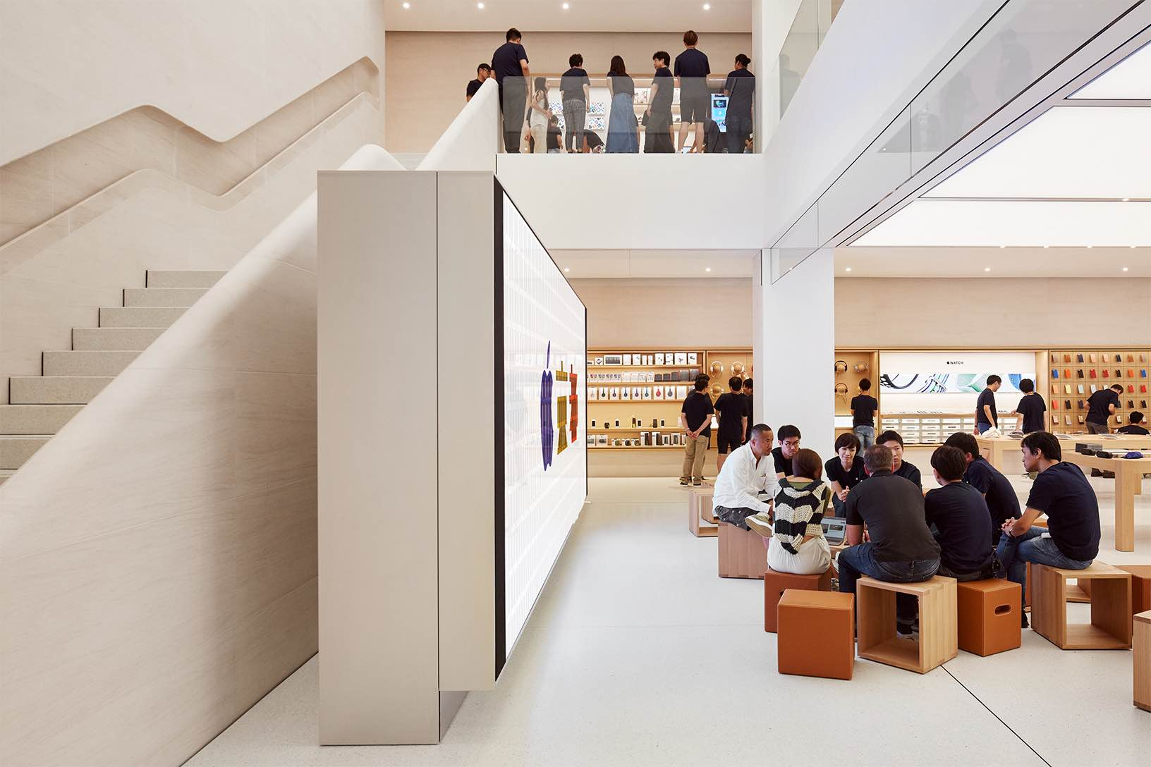 The Kyoto store, opening this coming Saturday, features a multi-level atrium