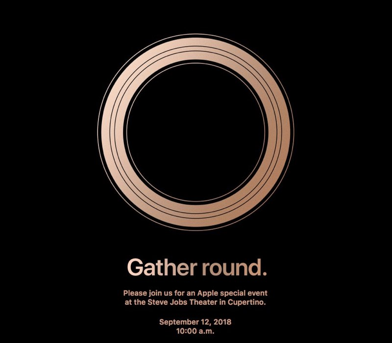 Invitation graphic for Apple's September 2018 event