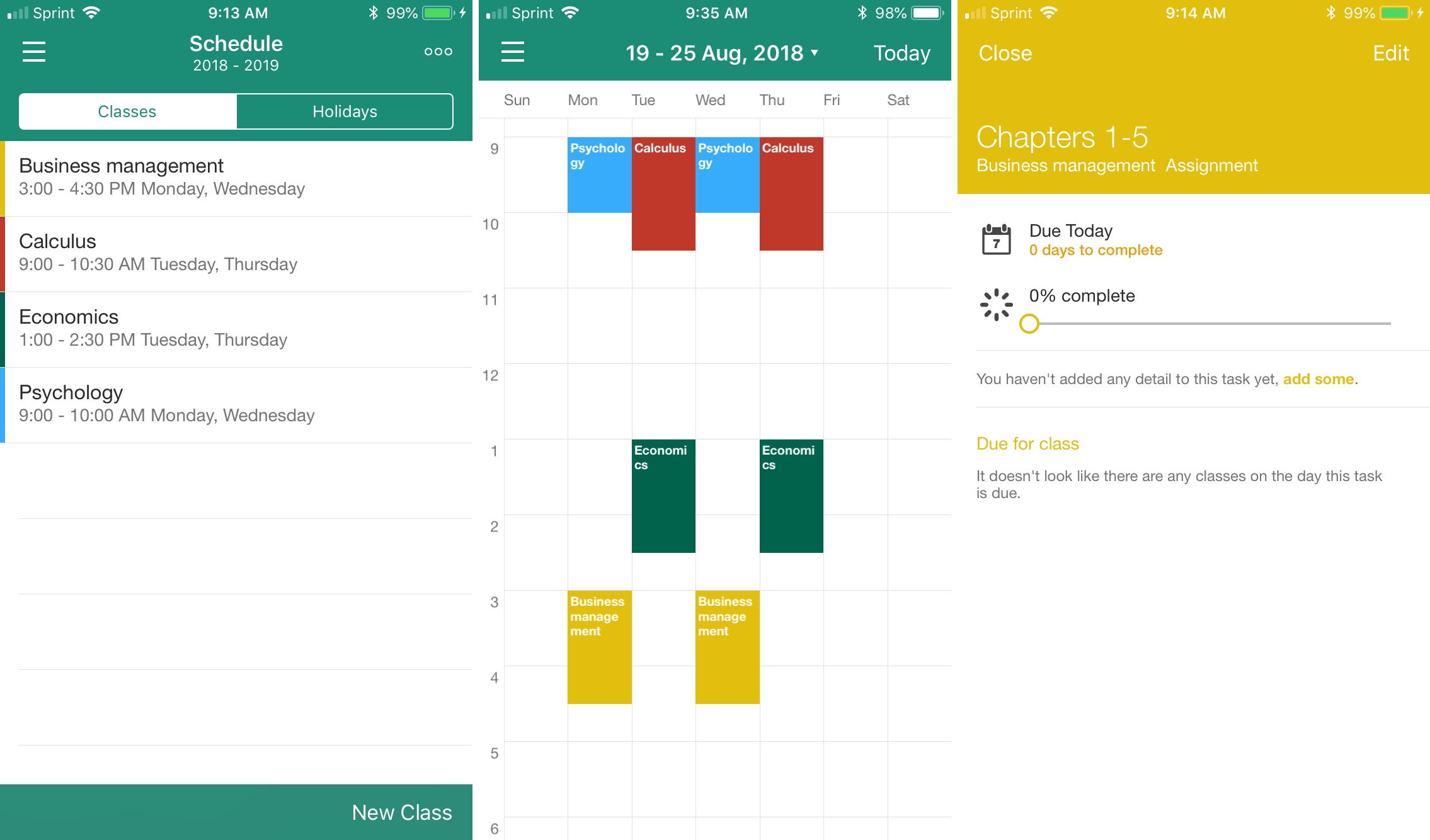 My Study Life Student Planner iPhone