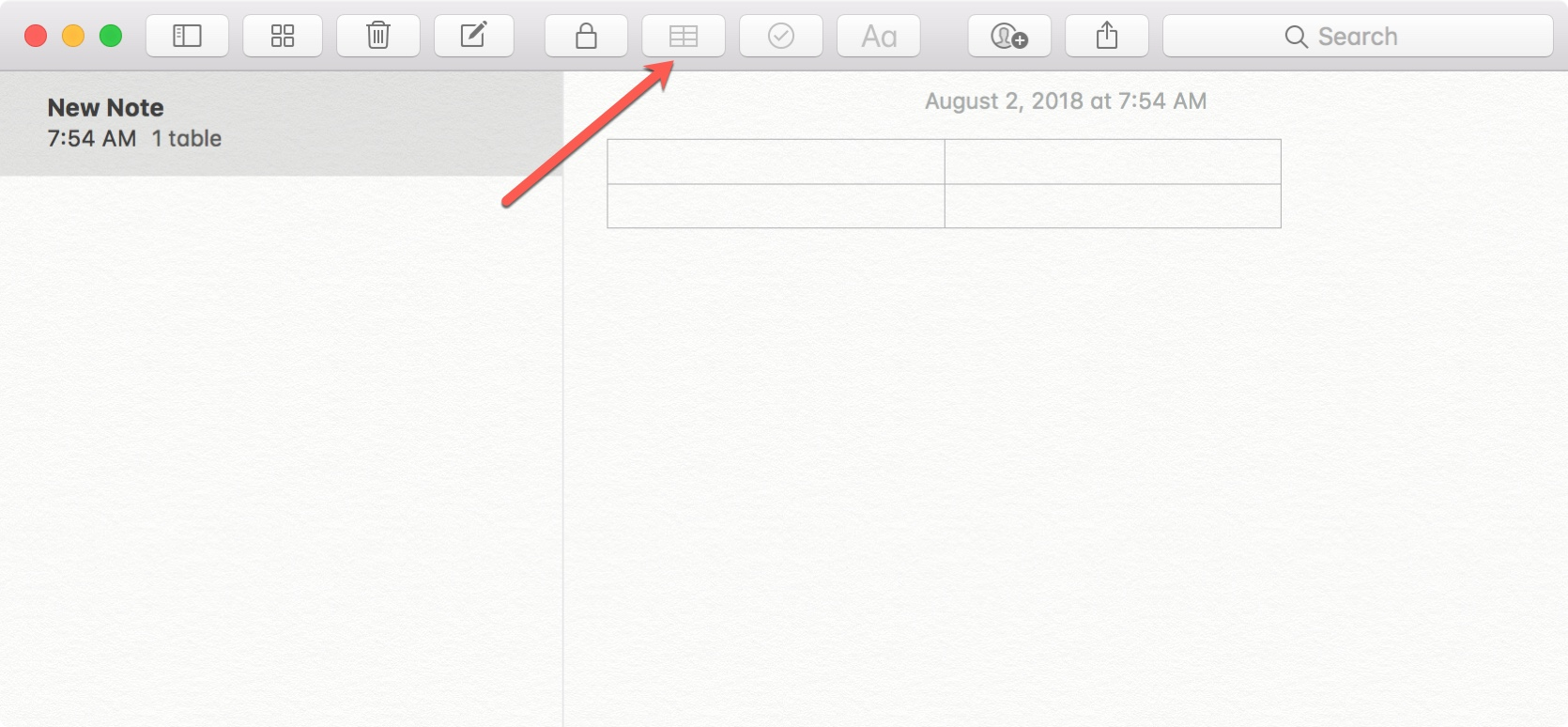 working with tables in apple notes - Notes Table Button Mac