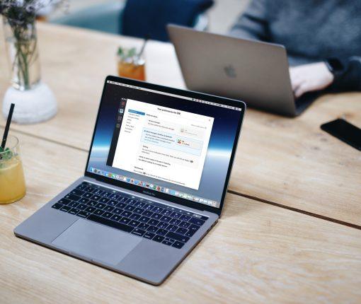 Slack on Macbook Screen