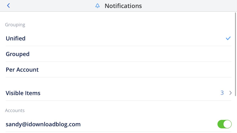 Spark Smart Inbox Options