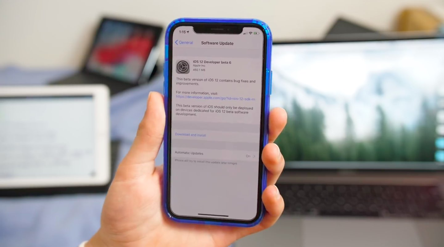 iOS 12 beta 6 changes