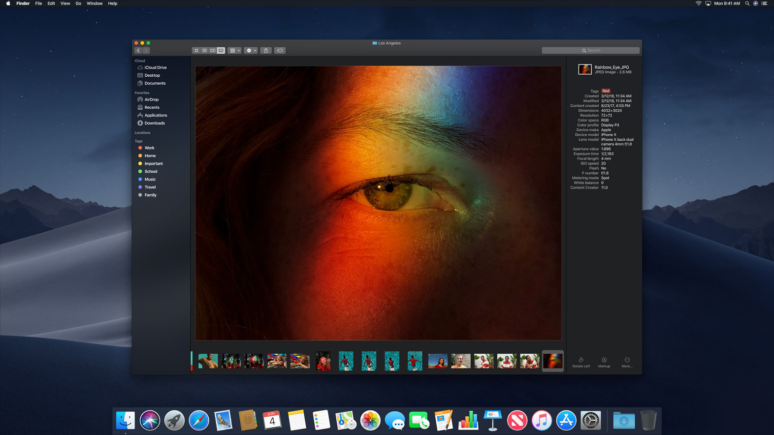 The Gallery view on macOS Mojave replaces the previous Cover Flow mode