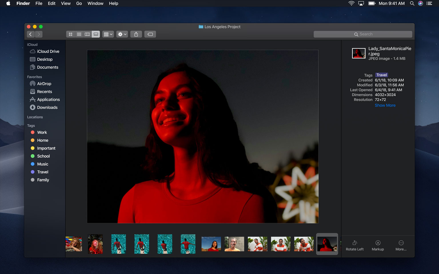 6f3283b30e8 The Finder on macOS Mojave brings a new Gallery View that lets you view  image metadata