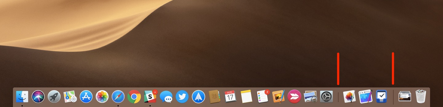 macOS Mojave: How to hide recent apps in your Mac's Dock