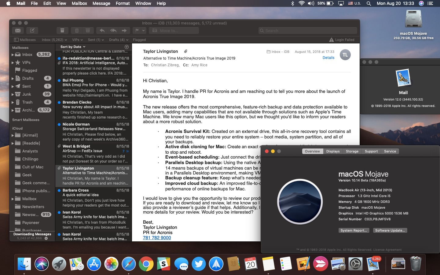 howto dark mode apple mail
