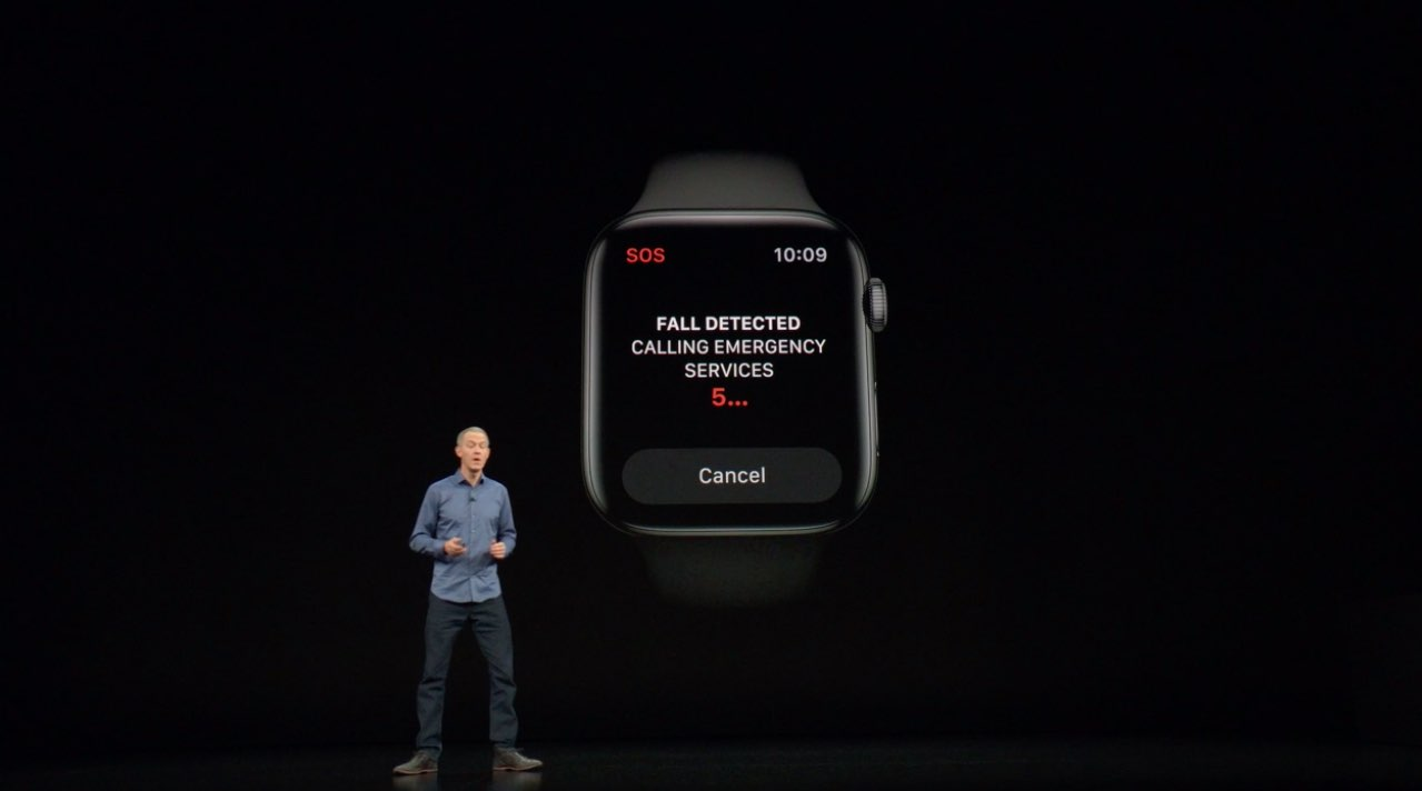 Apple Watch fall detection - countdown timer