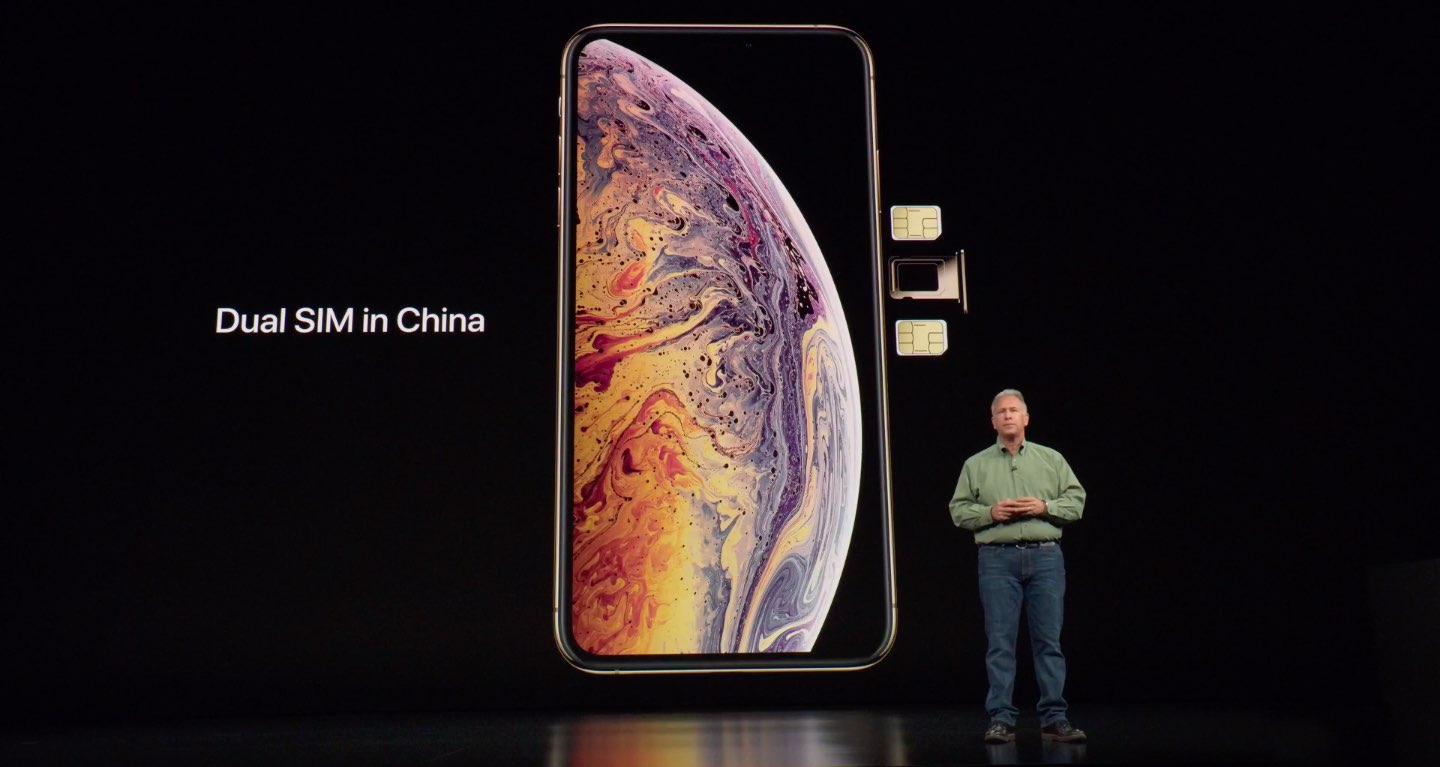 iPhone dual SIM support in China requires a special China-exclusive iPhone XS model