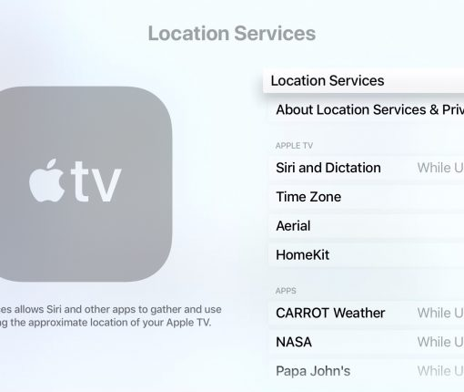 Apple TV Location Services