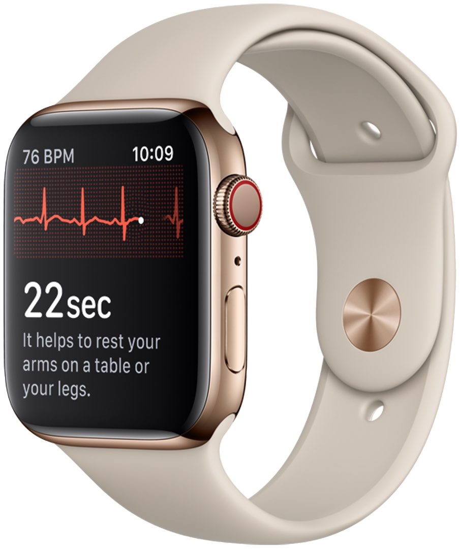Apple Watch optical heart rate sensor on Series 4 lets you take an ECG reading of your heart's activity