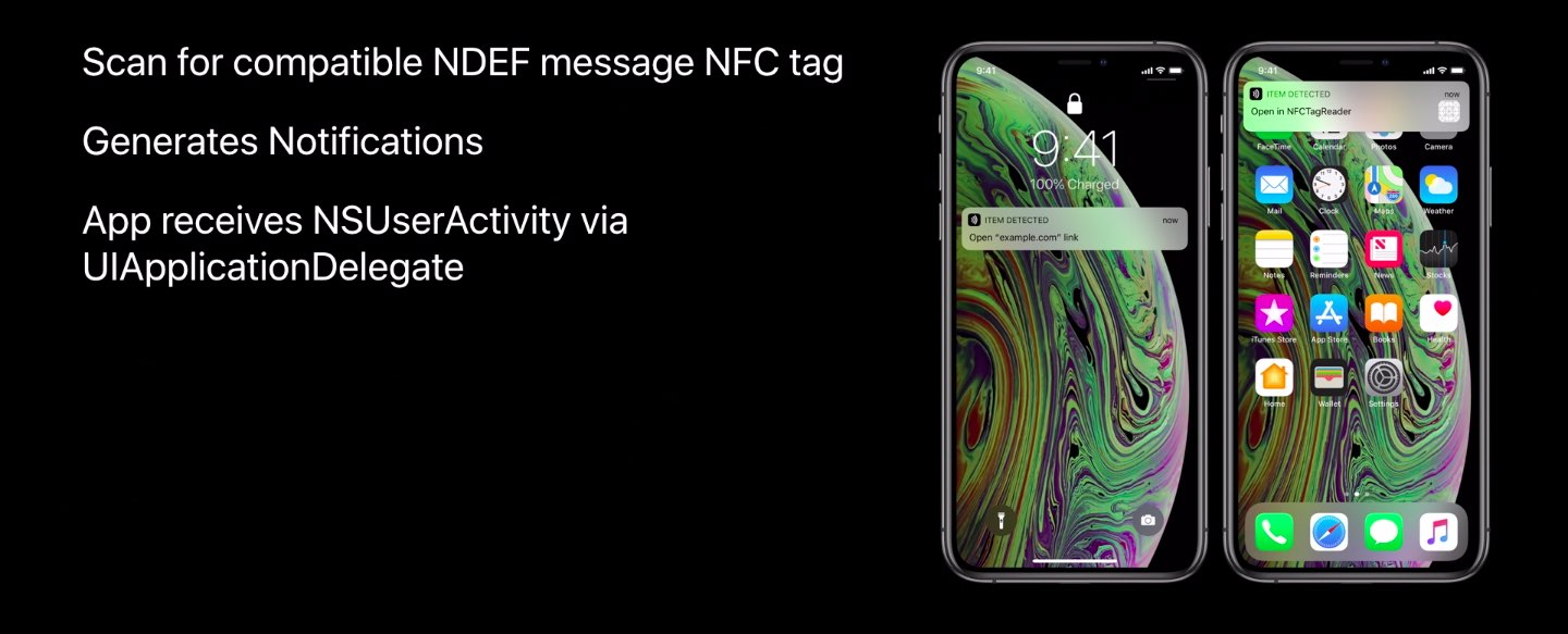 Apple iPhone Xs Core NFC Background Tag Reading: how it works