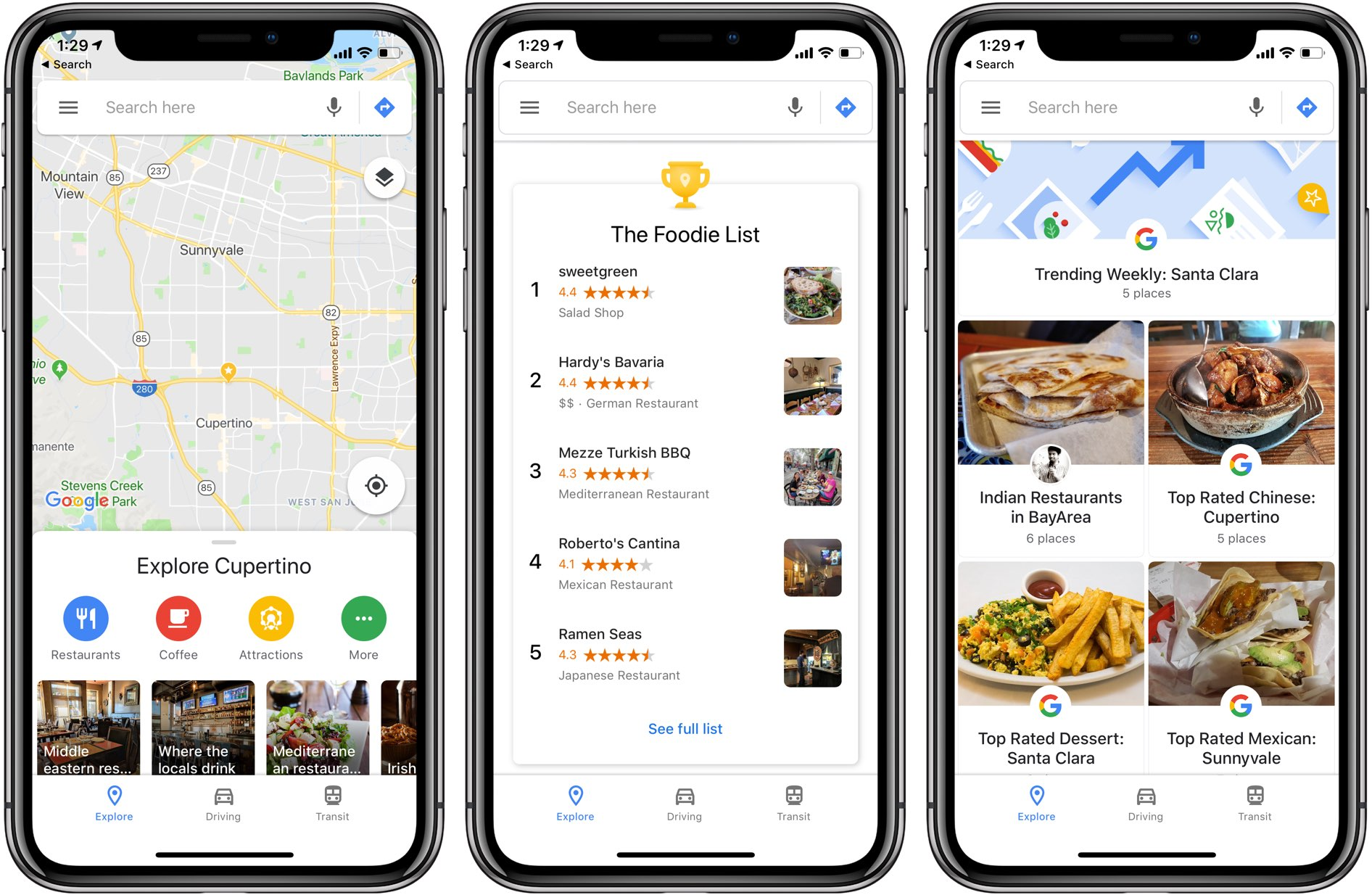 The Google Maps app has picked up a brand0new Events section