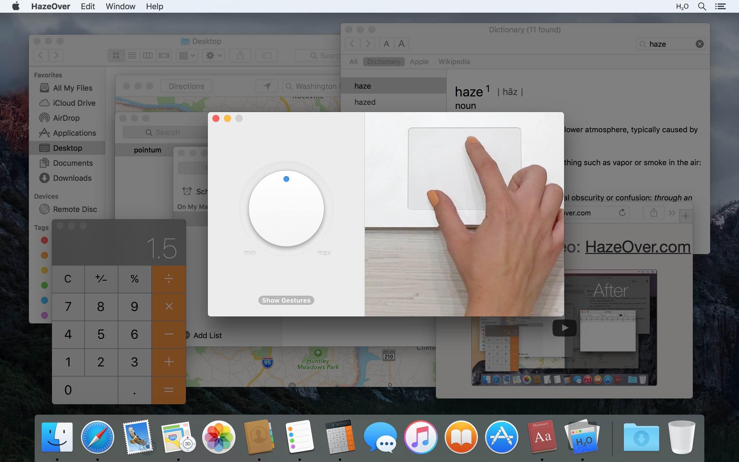 Modo oscuro de Mac: girando el atenuador en la aplicación HazeOver