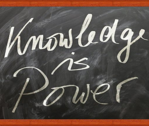 Knowledge is Power chalkboard